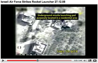 IDF's You Tube video of an airstrike on December 27, 2008